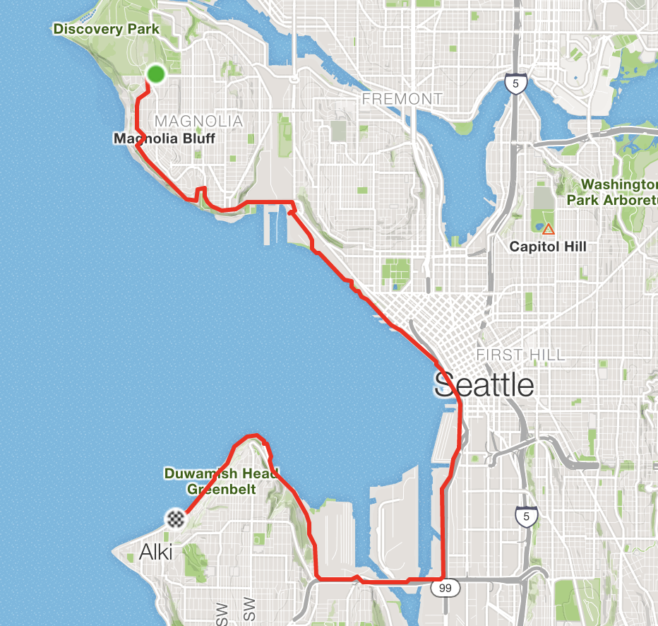 Discovery to Alki Route